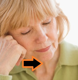 Close-up of a businesswoman resting her head on her hand